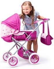 Woody wózek dla lalki Jednorożec - duży