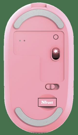 Trust mysz komputerowa Puck, różowy (24125)