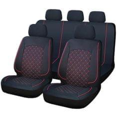 Cappa SYDNEY univerzális üléshuzatok fekete/piros