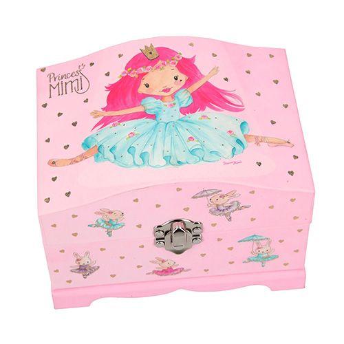Princess Mimi Majhna škatla za nakit z ogledalom in svetlobnim učinkom Princess Mi, Pink, princesa Mimi in baletni zajčki