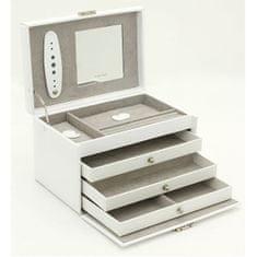 Friedrich Lederwaren Škatla za nakit belo / siva Classico 23236-10