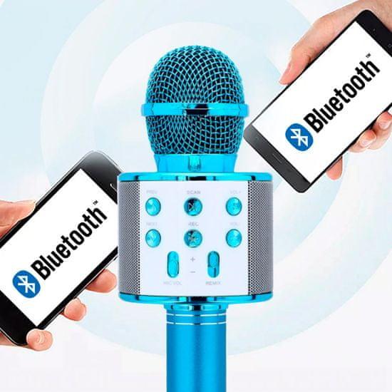 Forever BMS-300 mikrofon z zvočnikom, moder