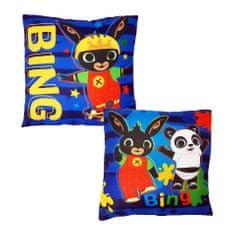 """SETINO Poduszka chłopca """"Bing"""" - 40x40cm - niebieski"""