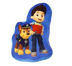 """SETINO 3D otroški vzglavnik """"Tačke na patrulji - Chase"""" - 37x25 cm - modra"""