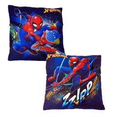 """SETINO Poduszka chłopca """"Spiderman"""" - 40x40cm - niebieski"""