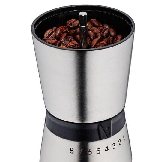 Kela Mlynček na kávu CAROLINA antikoro 18/10 čierna