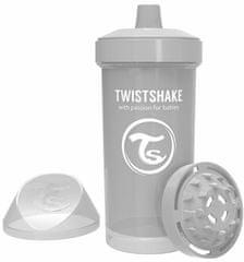 Twistshake Cumisüveg gyerekeknek 360 ml 12+m Pasztel szürke