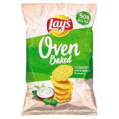Lays Oven Baked Pečené bramborové lupínky tvarované s příchutí jogurtu a bylinek 125g