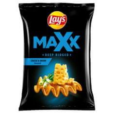 Lays Maxx Smažené bramborové lupínky s příchutí sýra a cibulky 65g