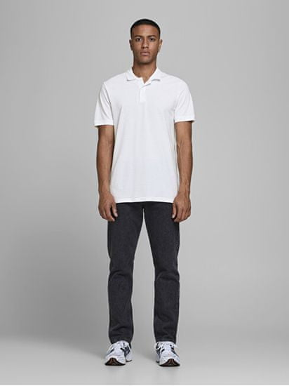 Jack&Jones Moška polo triko Slim Fit JJEBASIC 12136516 White