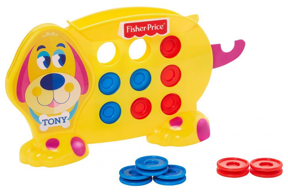 Fisher-Price Hra pro předškoláky Piškvorky s pejskem Tonym