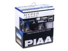 PIAA autožárovky Hyper Arros 5000K H8 - o 120 % vyšší svítivost, jasně bílé světlo o teplotě 5000K
