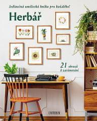 autorů kolektiv: Herbář: Jedinečná umělecká kniha pro každého! 21 obrazů k zarámování