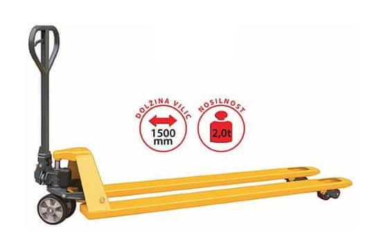 HELI Ročni paletni viličar CBD20 PREMIUM - Nosilnost 2000 kg, dolžina vilic 1500 mm