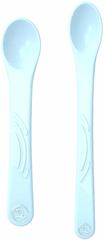 Twistshake komplet 2 žličk za hranjenje, 4m+, pastelno moder