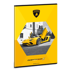 Ars Una Ars Una Sešit Lamborghini žluté A4 linkovaný