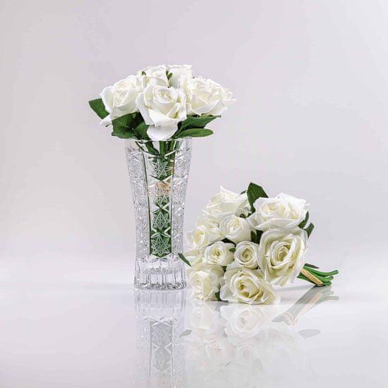JULEST Umělá kytička růží TEREZIE bílá.