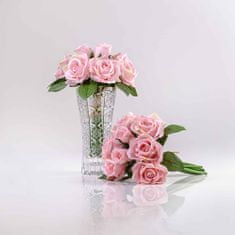 JULEST Hedvábná umělá kytička z růží TEREZIE růžová