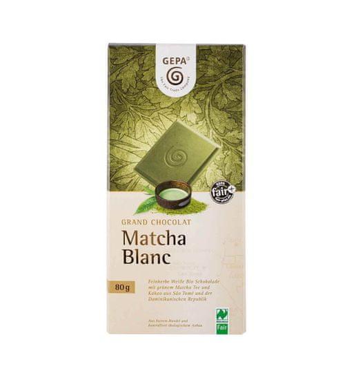 Gepa Bio bílá čokoláda Matcha 80 g