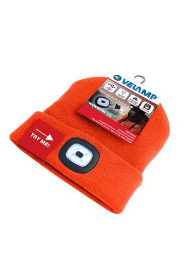 Velamp čepice CAP10 s LED světlem oranžová