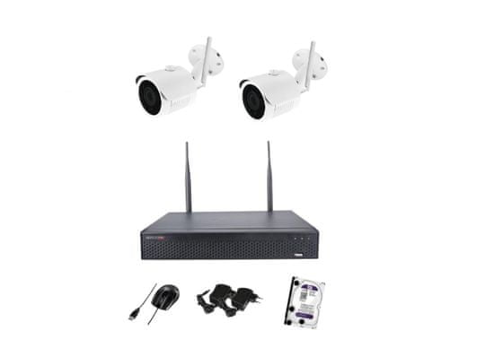 Monitorrs Security Wifi IP kamerový set Full HD 1080p 2 x kamera