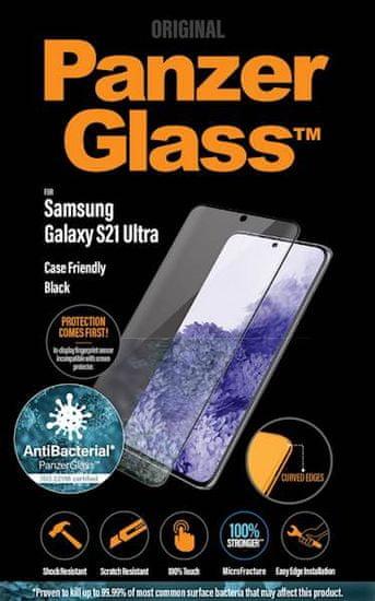 PanzerGlass zaštitno staklo za Samsung Galaxy S21 Ultra, Black Ab, kaljeno