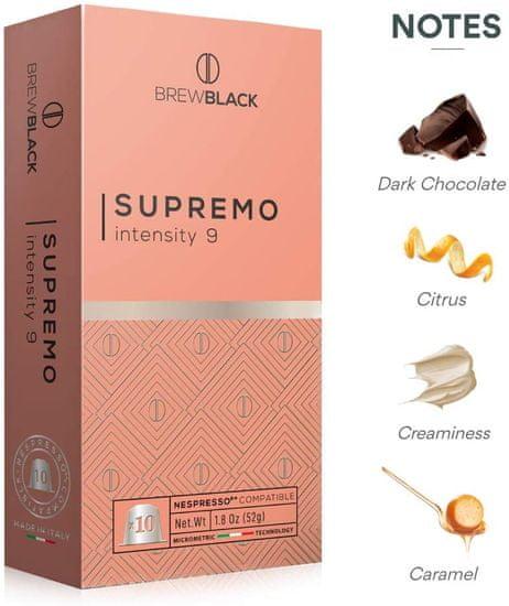 BrewBlack Káva SUPREMO (10 kávové kapsule)