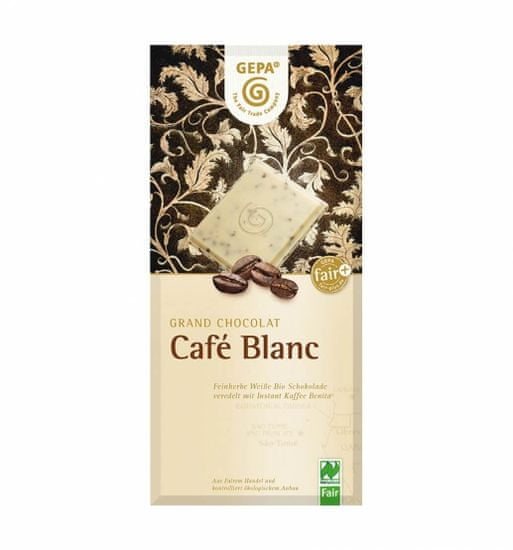 Gepa Bio bílá čokoláda s instantní kávou 100g
