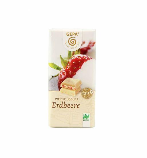 Gepa Bio jogurtová čokoláda s jahodami 40 g