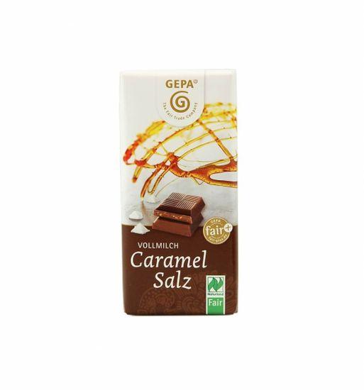 Gepa Bio čokoláda mléčná karamel - sůl 40 g