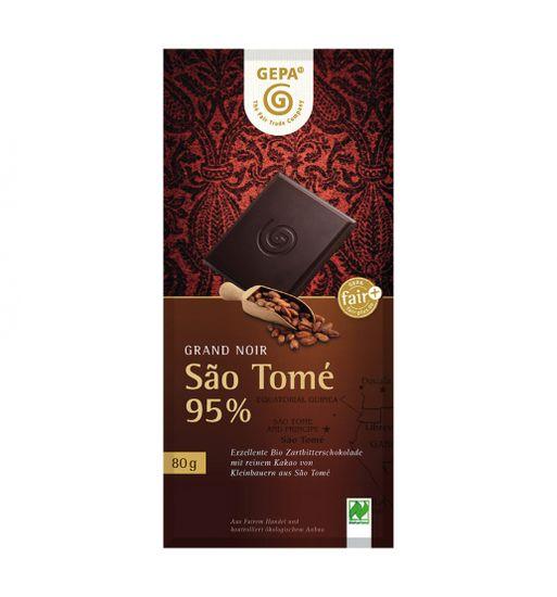 Gepa Bio hořká čokoláda 95% Sao Tomé Grand Noir 80 g