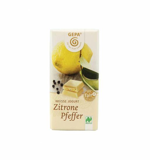 Gepa Bio čokoláda jogurtová s citrónovým pepřem 40 g