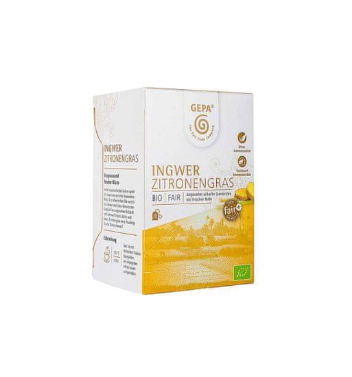 Gepa Bio Fairtrade zázvorový čaj s citrónovou trávou 20 x 1,5 g