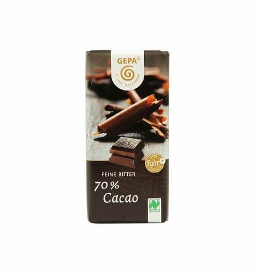 Gepa Bio čokoláda hořká 70% kakaa 40 g