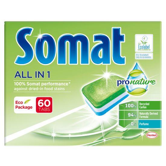 Somat All in One Pro Nature tablete za perilicu posuđa, 60 komada