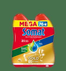 Somat Gold Gel gel za pomivalni stroj, 2x684 ml, 76 pranj
