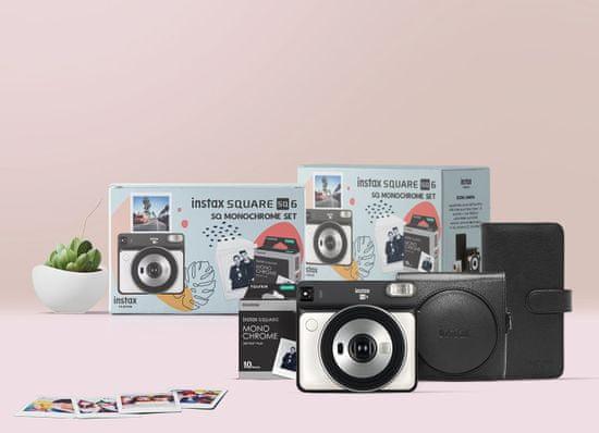 FujiFilm SQ6 White + Accessory Kit + 10 snímků a LED světélka na zavěšení fotek