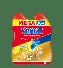 Somat Gold Gel Lemon&Lime gel za pomivalni stroj, 2 x 684 ml, 76 pranj
