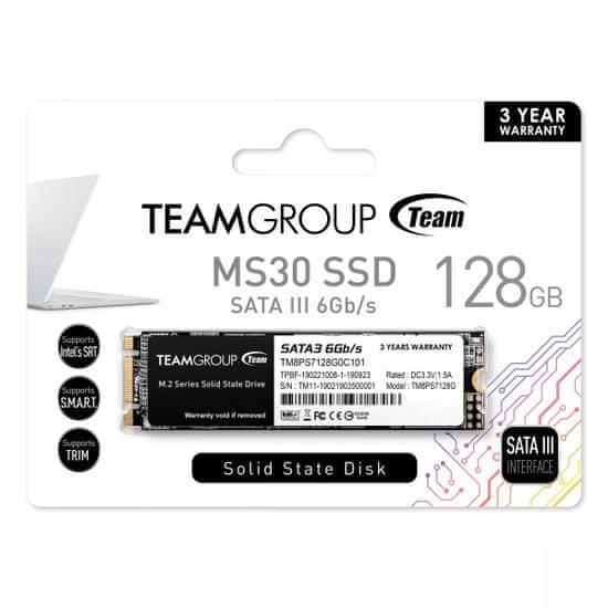 TeamGroup MS30 SSD disk, 128 GB, M.2 2280, SATA3
