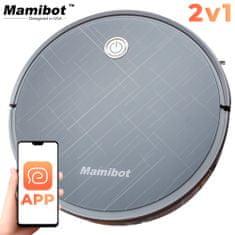 Mamibot Exvac660 robotski sesalnik, Hibrid 2-v-1 (sesanje in pomivanje), aplikacija, samodejno polnjenje