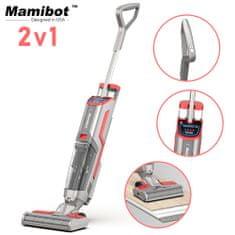Mamibot Flomo 2-v-1 sesalnik in pomivalec, baterija, samočistilna funkcija, UV lučka , LED zaslon