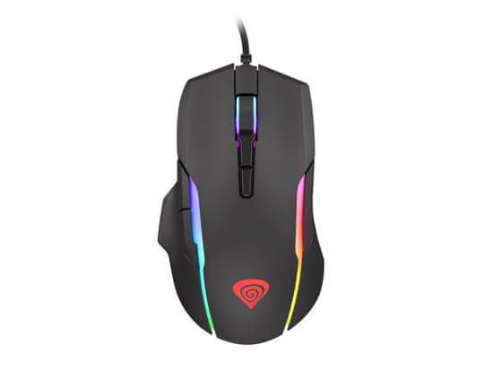 Genesis Xenon 220 gaming optična miška, 6400 dpi, 7 gumbov, RGB