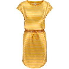 ONLY Dámské šaty ONLMAY 15153021 Mango Mojito THIN STRIPE CLOUD DANCER (Velikost S)