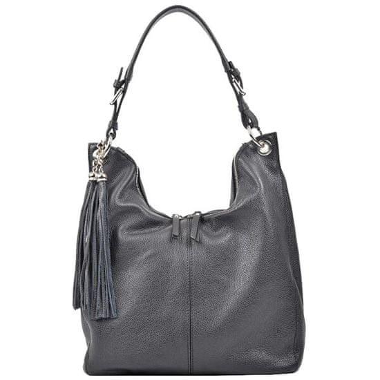 Carla Ferreri Ženska usnjena torbica AW19CF1334 Nero
