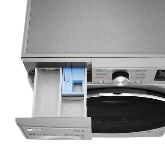 LG pračka se sušičkou F4DV709H2TE + 10 let záruka na motor