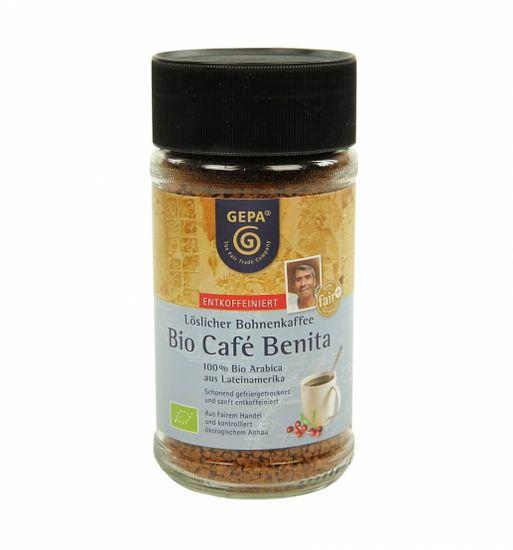 Gepa Instantní káva Fairtrade Bio Benita Premium bez kofeinu 100 g