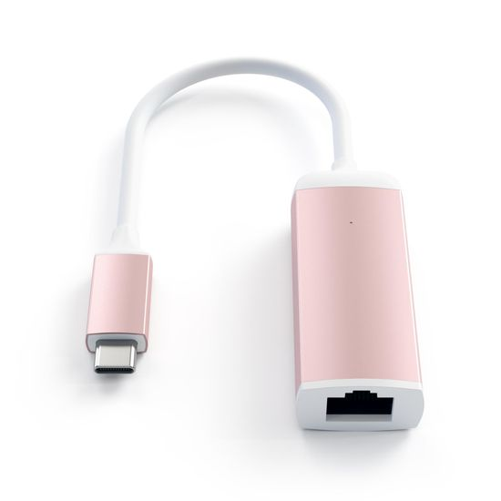 Satechi Type-C na Ethernet adapter, aluminij, Rose Gold