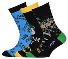 LEGO Wear 3 pack chlapčenských ponožiek Batman LW-12010060 26/27 viacfarebná