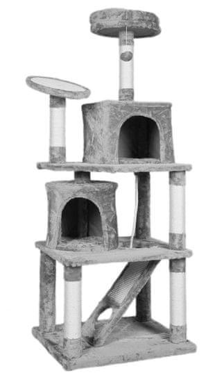 BestPet Škrabadlo pro kočky Gema šedé 160 cm