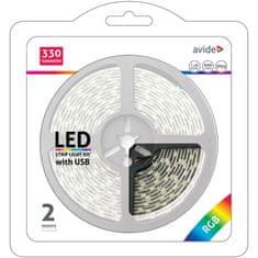 Avide USB RGB LED trak za TV s kontrolerjem 2m